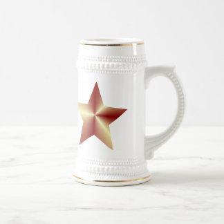 Customizable Bronze Star Coffee Mugs