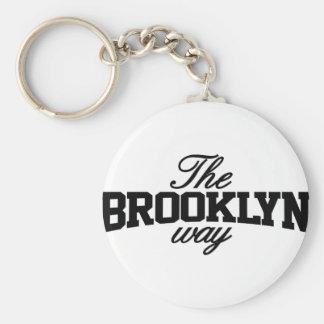 Customizable Brooklyn Basic Round Button Key Ring