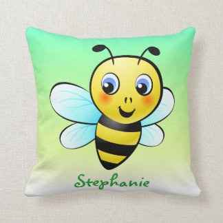 Customizable Bumblebee Throw Pillow