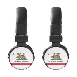 Customizable California State Flag Headphones