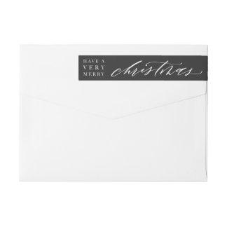 Customizable Calligraphy Christmas Envelope Label