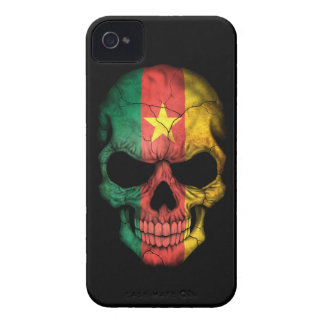 Customizable Cameroon Flag Skull Case-Mate iPhone 4 Cases