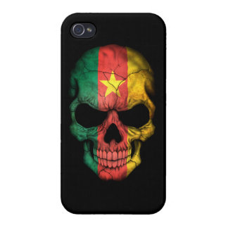 Customizable Cameroon Flag Skull iPhone 4 Cover
