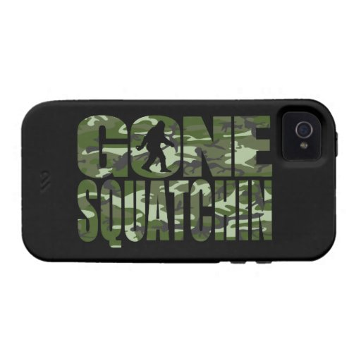 Customizable Camo Gone Squatchin Vibe iPhone 4 Covers