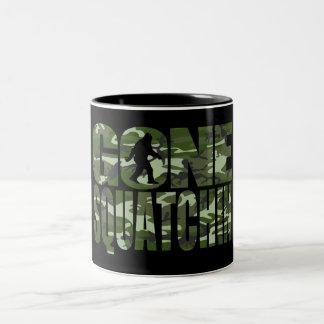Customizable Camo Gone Squatchin Two-Tone Mug