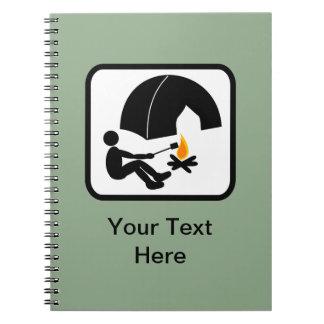 Customizable Camper Logo Notebook