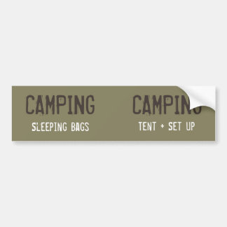 Customizable Camping Organization Labels Bumper Sticker