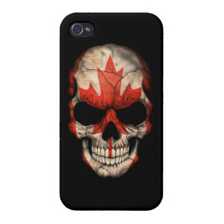 Customizable Canadian Flag Skull iPhone 4/4S Cases