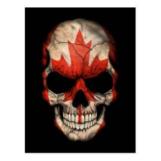 Customizable Canadian Flag Skull Postcard