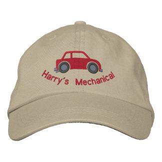 Customizable Car Lover or Mechanics Hat Embroidered Baseball Cap