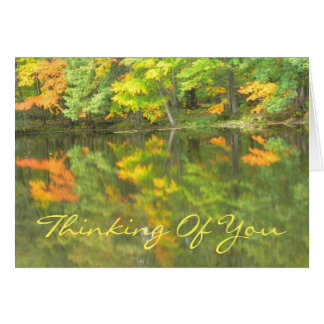 """customizable card/""""Thinking Of You""""/LAKE REFLECTIO Note Card"""