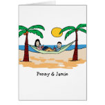 Customizable card- vacationing couple
