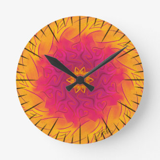Customizable Carnation (Psychedelic spirograph) Wall Clock