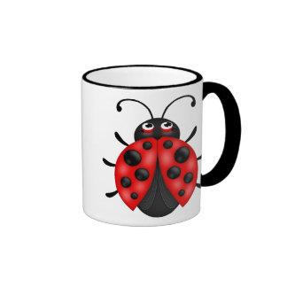Customizable Cartoon Red Ladybug Drinkware Mug
