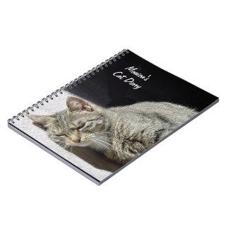 Customizable Cat Diary Notebook