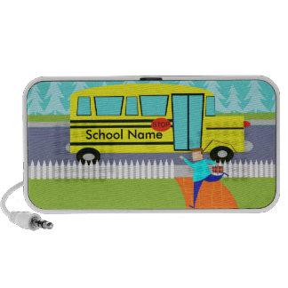 Customizable Catching School Bus Doodle Speaker