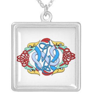 Customizable Celtic Art Necklace - Add Text