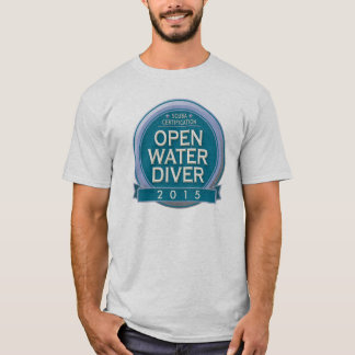 Customizable Certified Open Water Diver T-Shirt