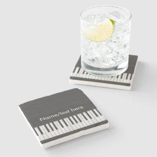 Customizable Chalkboard Keyboard Stone Beverage Coaster