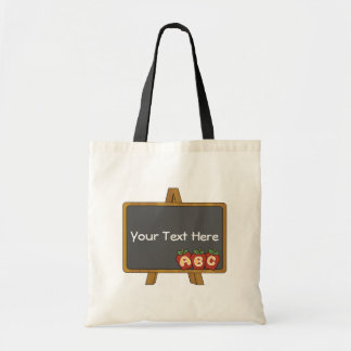 Customizable Chalkboard Teacher Budget Tote Bag