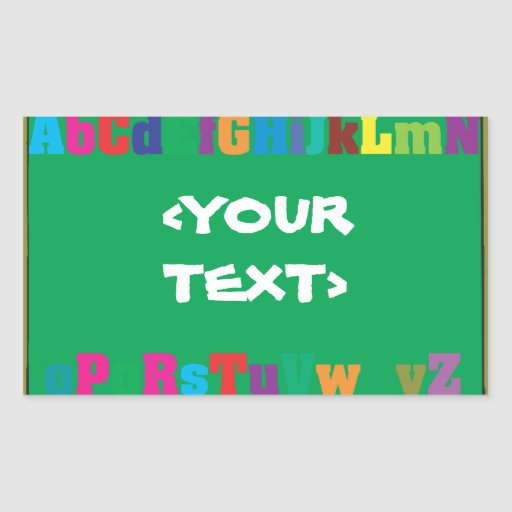 Customizable Chalkboard, <YOURTEXT> Rectangle Stickers
