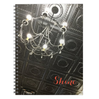 Customizable Chandelier Spiral Notebook