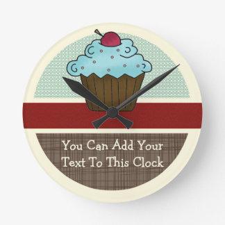Customizable Cherry Cupcake v2 Clock