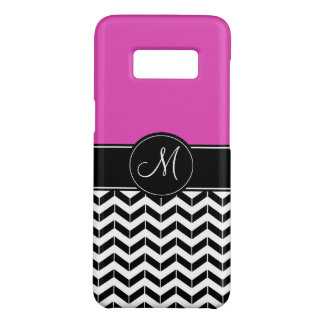 Customizable Chevron Hot Pink Case-Mate Samsung Galaxy S8 Case