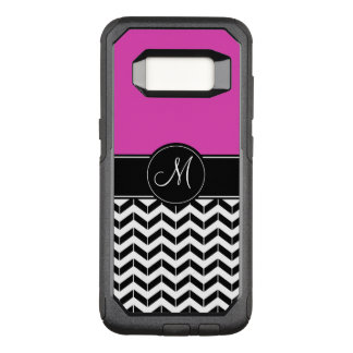 Customizable Chevron Hot Pink OtterBox Commuter Samsung Galaxy S8 Case