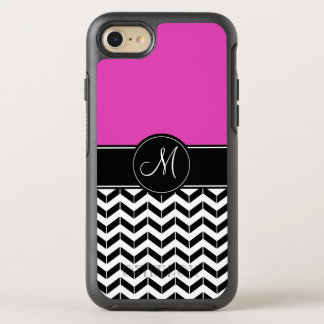 Customizable Chevron Hot Pink OtterBox Symmetry iPhone 8/7 Case