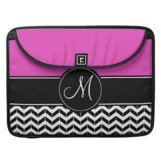 Customizable Chevron Hot Pink Sleeve For MacBook Pro