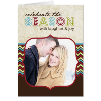 Customizable Chevron Photo Christmas Card