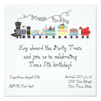 Customizable Child's Birthday Party Invitation