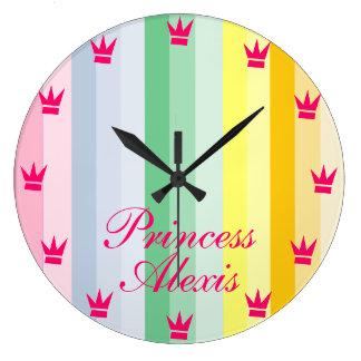 CUSTOMIZABLE CHILD'S PRINCESS CLOCK