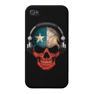 Customizable Chilean Dj Skull with Headphones iPhone 4/4S Covers