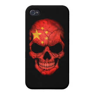 Customizable Chinese Flag Skull iPhone 4/4S Cases