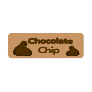 Customizable Chocolate Chip Bakery Labels