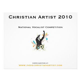 Customizable Christian Artist 2010 Pamphlet 21.5 Cm X 28 Cm Flyer