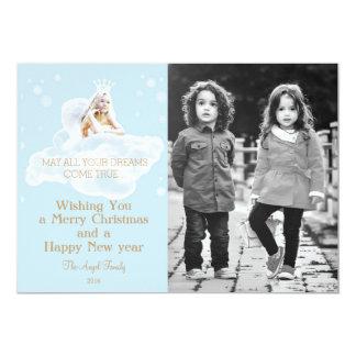Customizable Christmas Dream Angel Card