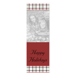 Customizable Christmas/Hanukkah Photo Bookmark Double-Sided Mini Business Cards (Pack Of 20)
