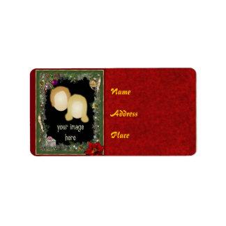 Customizable Christmas Photo Address Label