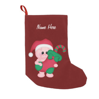 Customizable Christmas Pig Stocking