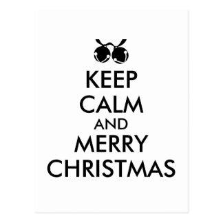 Customizable Christmas Postcard Keep Calm Bells