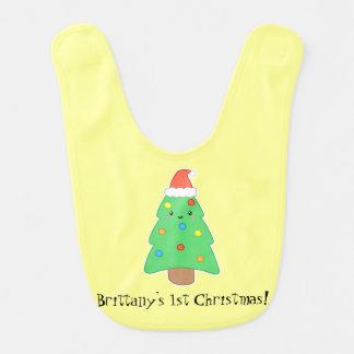 Customizable Christmas Tree Baby Bibs
