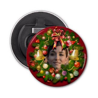 Customizable Christmas Wreath Bottle Opener
