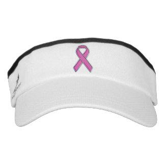 Customizable Chrome Like Pink Ribbon Awareness Visor