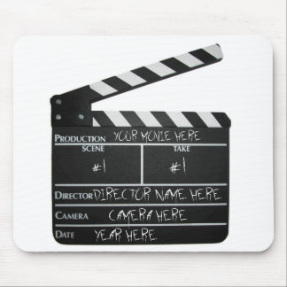Customizable Clapboard Slate movie filmmaker film Mouse Mat
