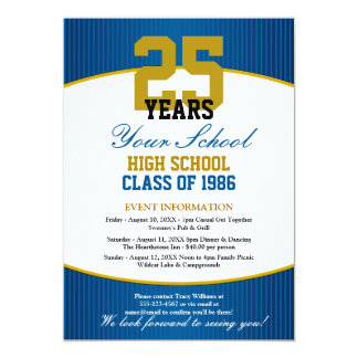 Customizable Class Reunion 13 Cm X 18 Cm Invitation Card