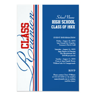 Customizable Class Reunion Invitations