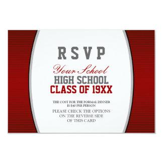 Customizable Class Reunion RSVP 9 Cm X 13 Cm Invitation Card